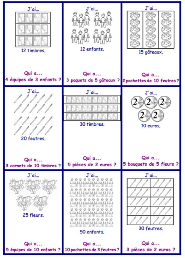 Les 521 meilleures images du tableau ecole math sur for Maths ce2 multiplication