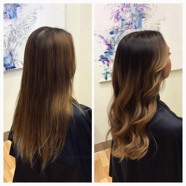 Kunden ville fortfarande ha sin naturliga färg i botten för att slippa utväxt, men ändå få ett nytt intryck, så Amanda slingade upp hennes mörka mellanparti, och nyanserade i en beige ton  på längderna och en mörkare mot botten för att få ett kraftigare intryck! ⚜  #michaelofrisorerna #hairpassion #stockholm #ombre #ombrehår #ombrehair #balayage #olaplex #olaplexsweden #hair #hairstyle #hairstylist #hår #haircolour #hairfashion #Longhair #hairdresser #blondehair #blonde #brownhair #curlyhair