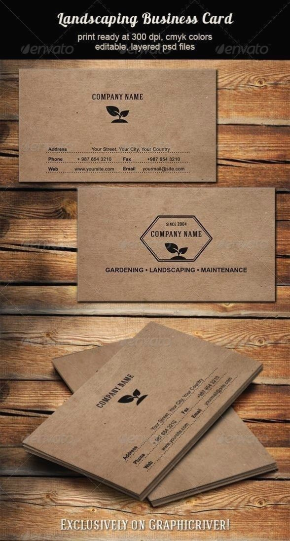 Business Card For Landscaping Rdening Wn Maintenance Business 1000 Landscaping Business Cards Landscaping Business Business Cards