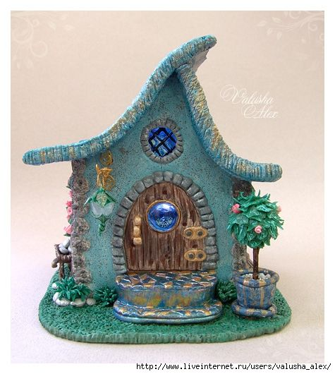 Lovely polymer clay house