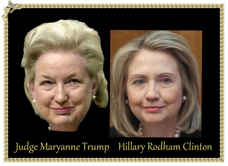 Hillary Clinton & Trump's sister Maryanne Trump.  Hillary & Donald Trump are siblings!