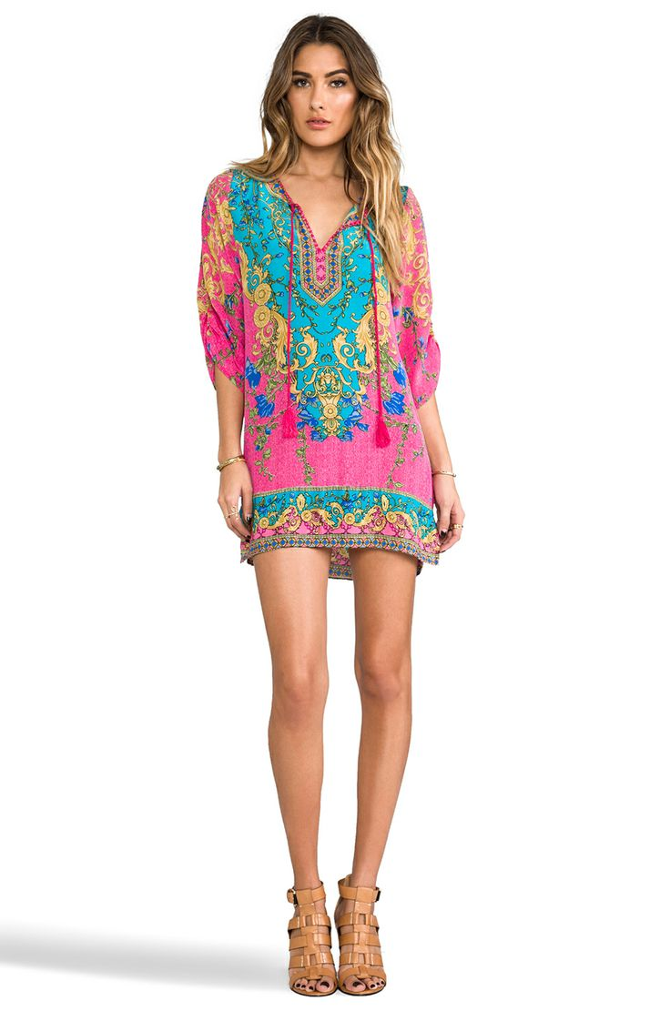 tropical silk dress, I would need pants with this though lol