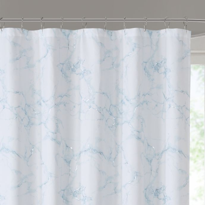 Marble Shower Curtain In Silver Marble Showers Curtains