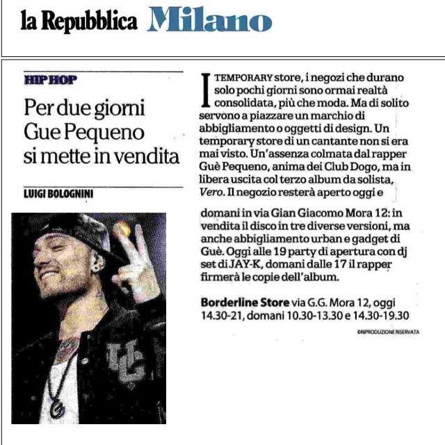 #GuèPequeno Guè Pequeno: #vero #temporarystore #borderline #oggiedomani #milano
