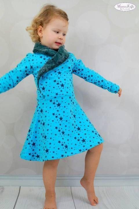Kombiebook Jerseykleid Lillith Gr. 74-158 Nähanleitung und Schnittmuster bei Makerist