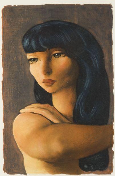 Mojżesz (Moise) Kisling - Portret kobiety