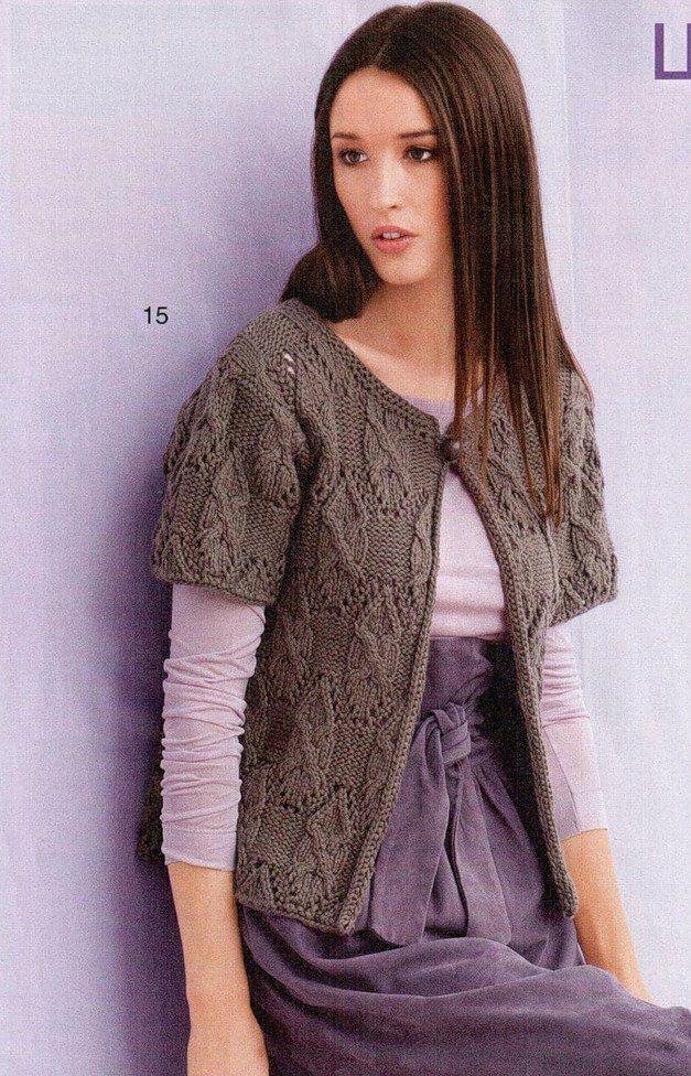 Knitting beauty cable cardigan for ladies