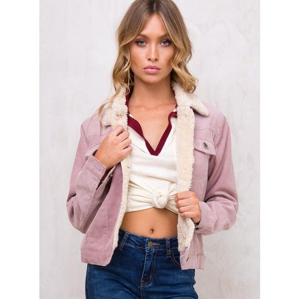 City Girl Blues Corduroy Jacket (95 AUD) ❤ liked on Polyvore featuring outerwear, jackets, blush, corduroy jacket, blue jackets, pink jacket, pink corduroy jacket and blue corduroy jacket