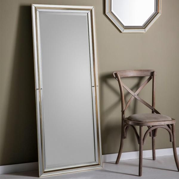 Jean Leaner Floor Mirror And Cross Back Chair