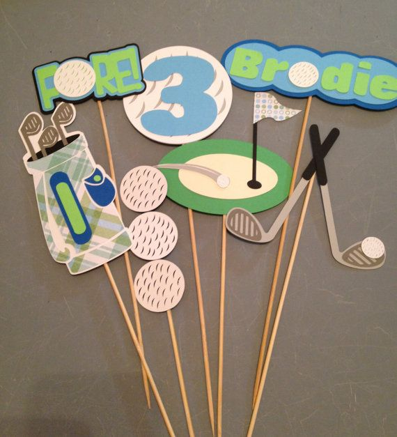 7pc Golf themed centerpiece Personalized by InspiredbyLilyMarie