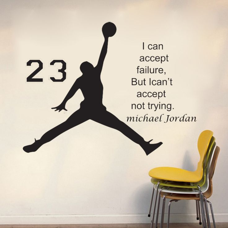 Find More Wall Stickers Information about 1pc Jordan Basketball Inspirational Words Wall Sticker PVC Waterproof Removable Livingroom Bedroom Sticker Home Decor 2008WS,High Quality decorative sticker paper,China sticker transfer Suppliers, Cheap sticker wall decor from NAAN GUO Store on Aliexpress.com