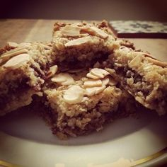Bakewell Flapjacks. They're in the oven right now :-) And now in my tummy. Man these are good, might have to make more for the weekend