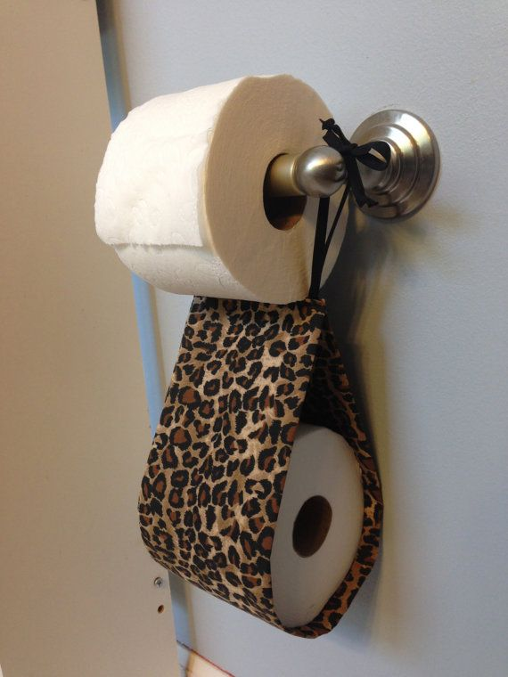 Leopard Print Spare Toilet Paper Holder by SimplySassySweet, $10.00