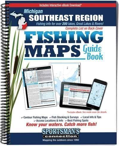 Michigan Southeast Region Fishing Maps Guide Book