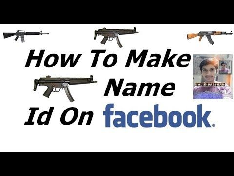 How To Make Gun Name Id On Facebook Urdu/Hindi Tutorial