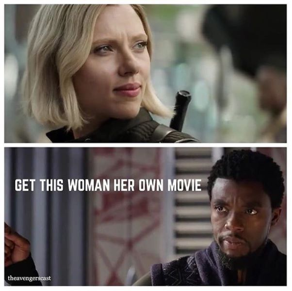 Even T'Challa supports a BW film. Come on, Marvel.