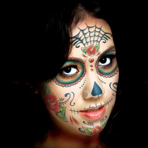 Sugar Skull Face Tattoo Kit - Temporary Tattoos - Shop All Categories - Costume Accessories - Halloween Costumes - Categories - Party City
