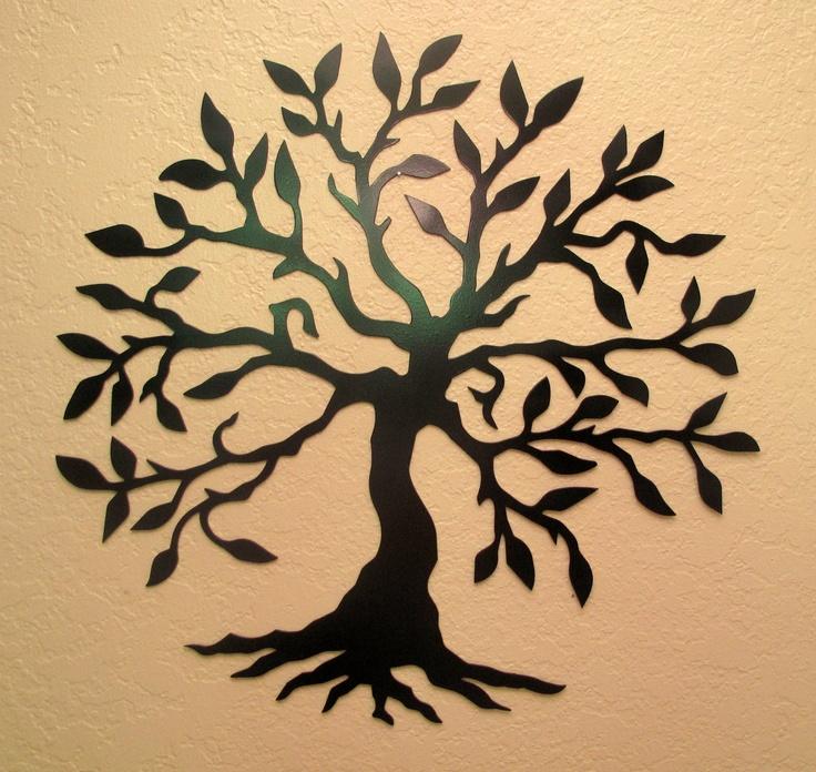 Olive Tree Metal Wall Art. $40.00, via Etsy.