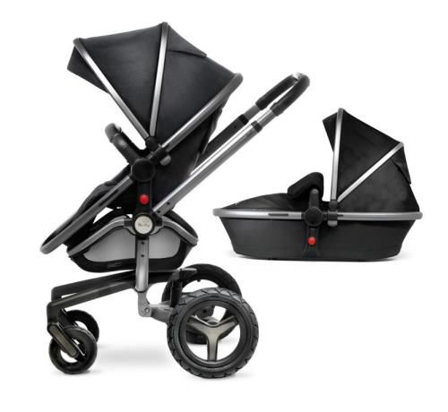 Silver Cross Surf 2 Chassis & Seat Unit With Carrycot - Graphite - Direct2Mum
