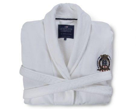 Lexington Velour Robe White