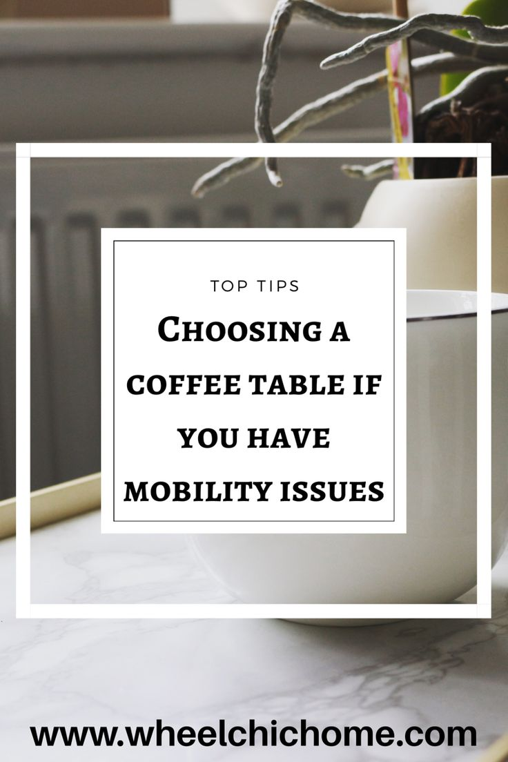 If you use a wheelchair, crutches or other mobility aid you need to have furniture that works with them and not against the disability. On the blog I've put together some tips and favourite options for buying a coffee table if you have a small space and have to consider a wheelchair or mobility problems.