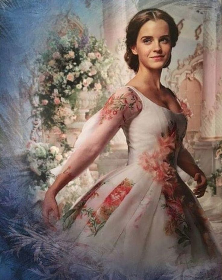 """Better quality picture of Emma Watson as Belle, in her """"royal celebration"""" gown, from Disney's upcoming live-action Beauty and the Beast"""