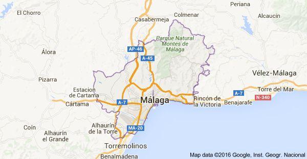 Map of Málaga, Spain