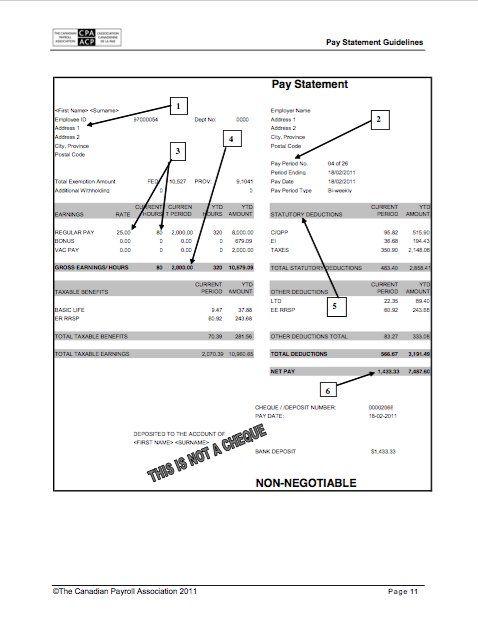 25 Great Pay Stub / Paycheck Stub Templates