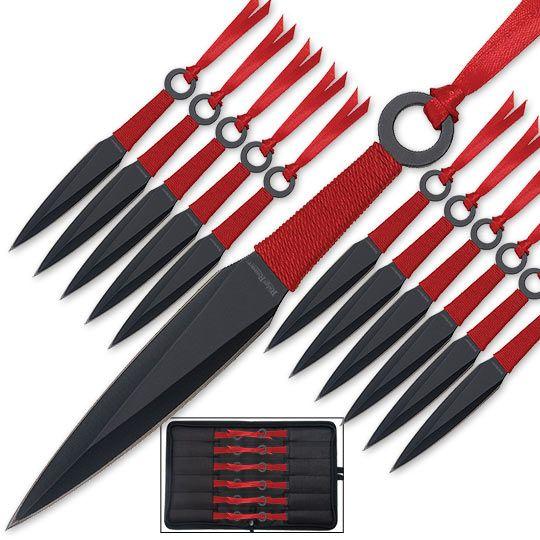 Kunai Explosion - 24pc Throwing Knife Set w/ Sheath