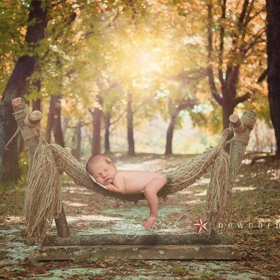 Image of Country Lane Newborn Prop Hammock with Stand  (The Original!)