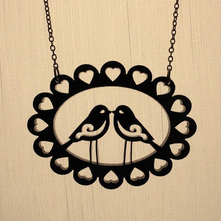 Love Birds Necklace Laser Cut Acrylic (C.A.B. Fayre