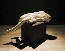 Fabio Viale - Souvenir (Pietà) III, 2006 marble 27 1/2 x 70 - Contemporary sacred art | CoSA
