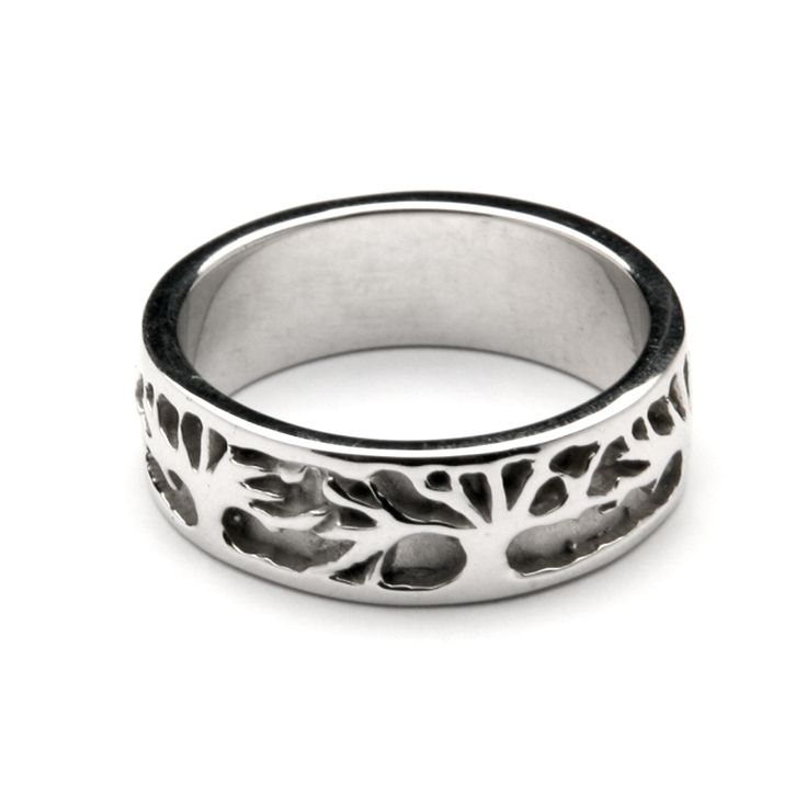 Continuous tree of life band husband 39 s wedding band for Maine wedding bands