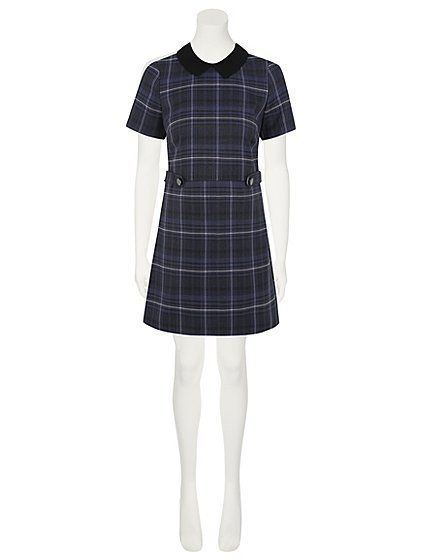 Woven Check Peter Pan Collar Dress | Women | George