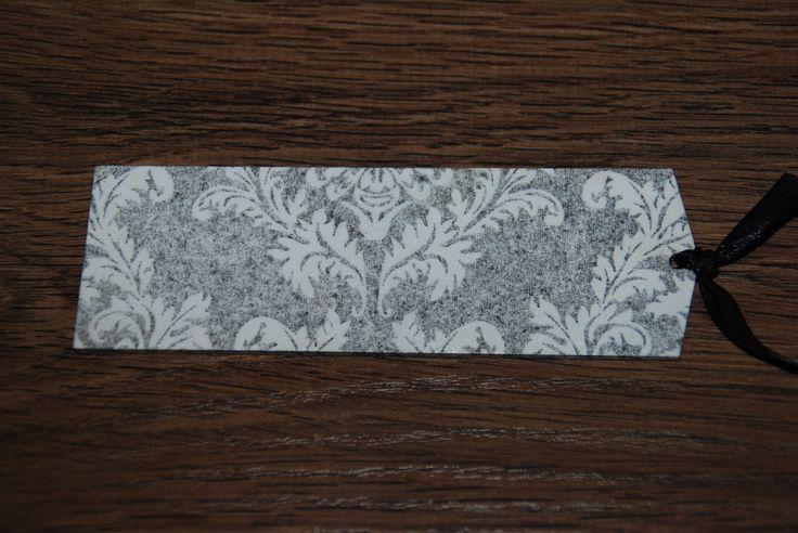 zakładka - druga strona. Notabene - niebawem kolejna odsłona zakładek utrzymana w tonacji black&white...