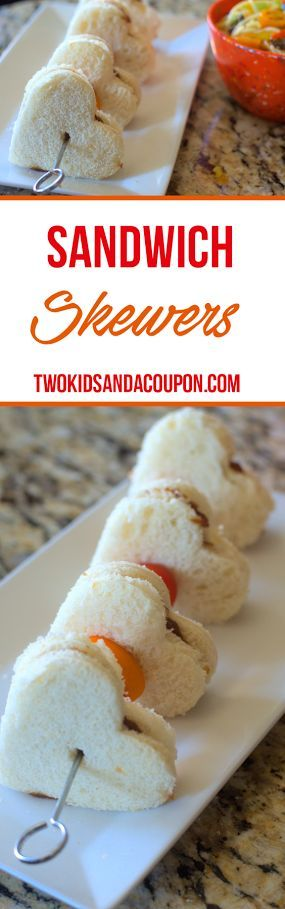 Looking for a fun way to serve a sandwich and veggies to your kids? Sandwich skewers can add a whole new twist on lunchtime , making it fun to eat!