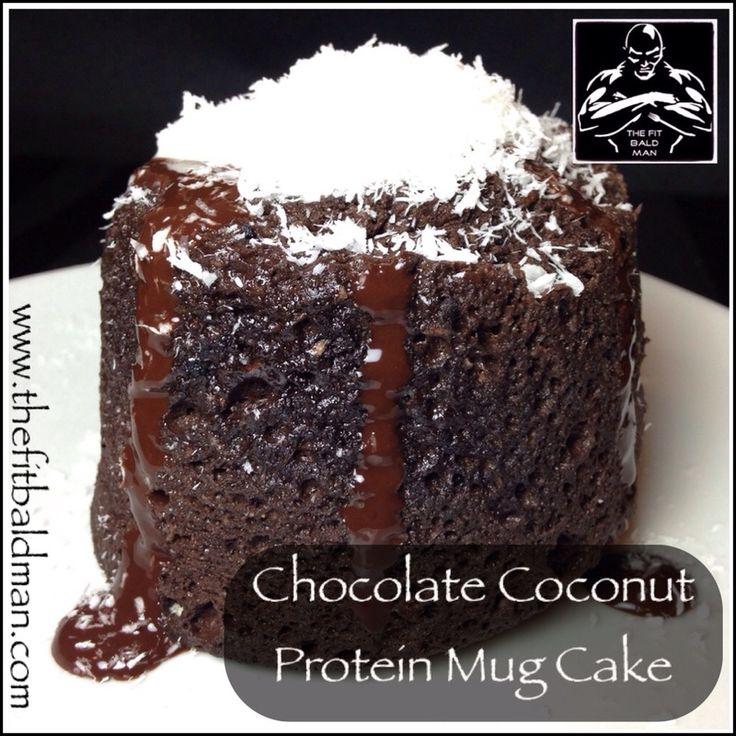 chocolate coconut protein mug cake - THE FIT BALD MAN