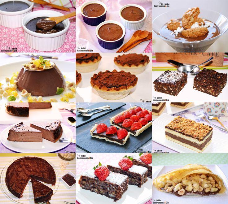 Doce recetas fáciles de postres de chocolate