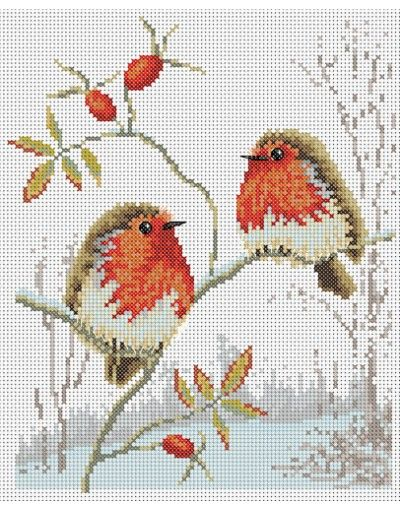 Winter Robins Cross Stitch Pattern                                                                                                                                                                                 More