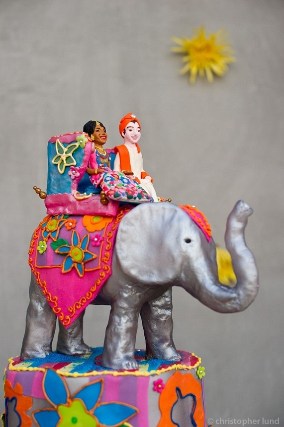 Indian wedding cake topper cool elephant