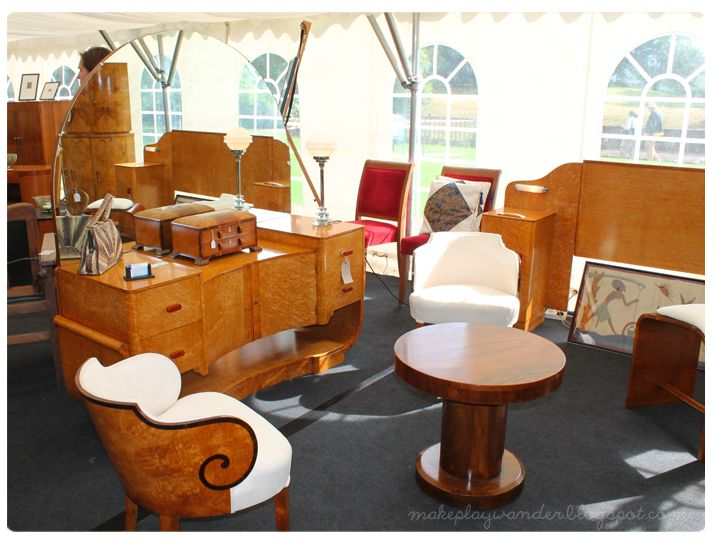 Eltham Palace Was Playing Host To An Art Deco Fair With A Range Of Stall Holders Displaying Beautiful Array Furniture And Decorative Objects