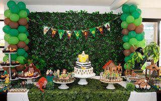 Festa Tarzan montada pela parceira Pat da Party Charm com papelaria Design Festeiro contato: designfesteiro@gmail.com