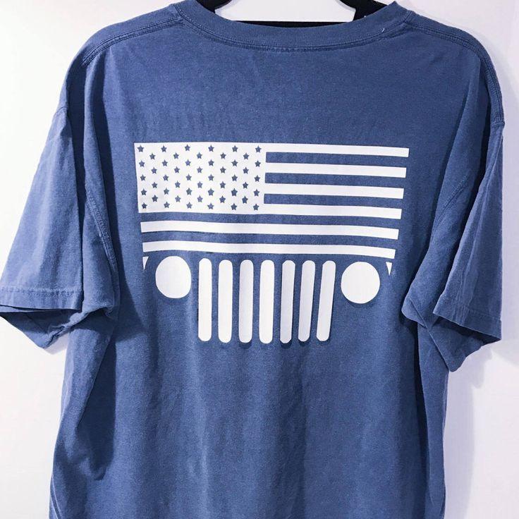 Jeep Shirt - American Flag Shirt - Jeep Symbol - Home State Shirt - JK Symbol - Jeep Wrangler - Comfort Color Shirt - Jeep Lover - Jeep life by WordsThatStickShoppe on Etsy https://www.etsy.com/listing/505774596/jeep-shirt-american-flag-shirt-jeep