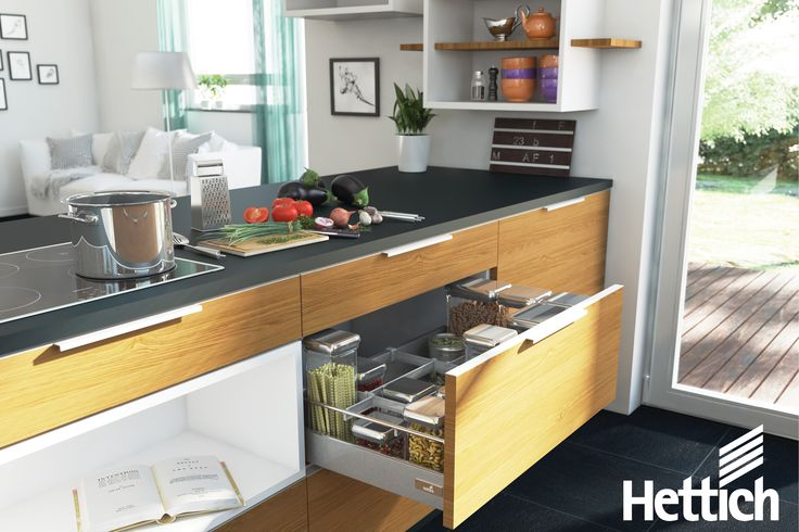 Drawers win over cupboards every time! Make your kitchen more accessible by adding InnoTech drawer systems to your design. Click on the pin for more information. #kitchendrawers #kitchenstorage