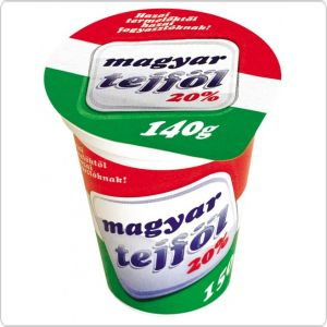 This is Magyar Sour Cream it is a commonly used dairy topping on most soups, pastas and meat dishes. Some people like it raw but I do not prefer it that way.