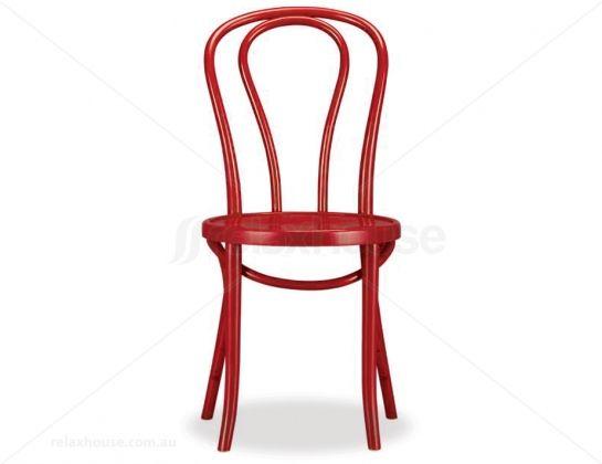 Eueopean Made Original Red Bentwood Chair