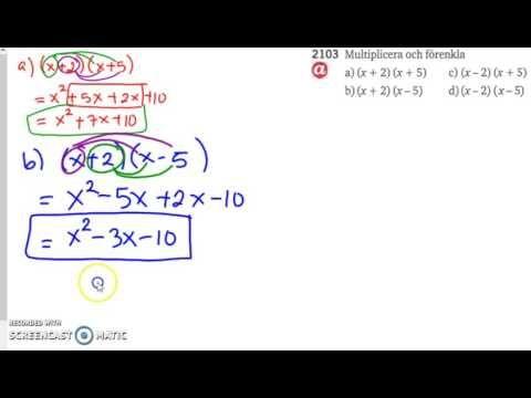 Matematik 5000 Ma 2b - Kapitel 2 - Algebra och ickelinjära modeller (all...