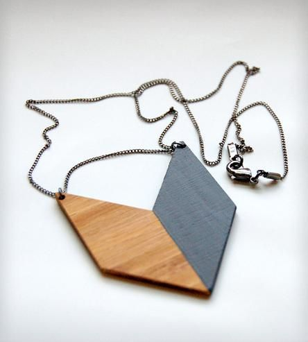 Wood Chevron Necklace by Maple and Mauve on Scoutmob Shoppe @Shoppe by Scoutmob #dreamweekender