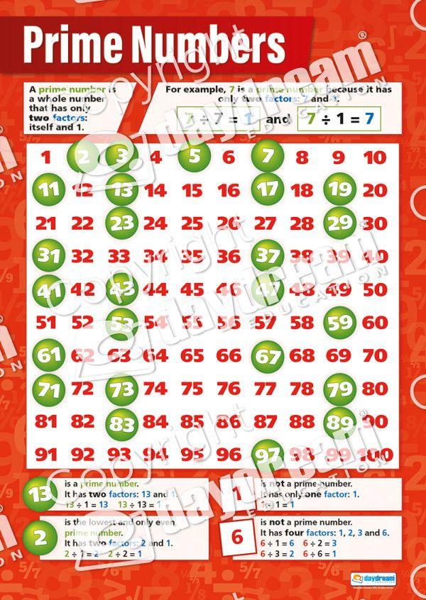 As 25 melhores ideias de Prime numbers no Pinterest Matemática - prime number chart