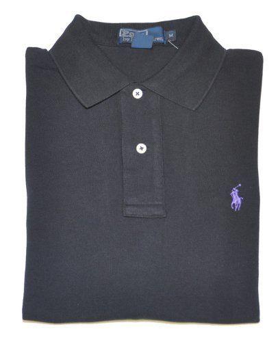 Polo Ralph Lauren Classic Fit Polo Men's Polo Shirt Black Size XXL Men's Fashion ** Visit the image link more details.